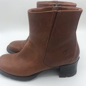 Womens Timberland Brown Leather Ankle Boots